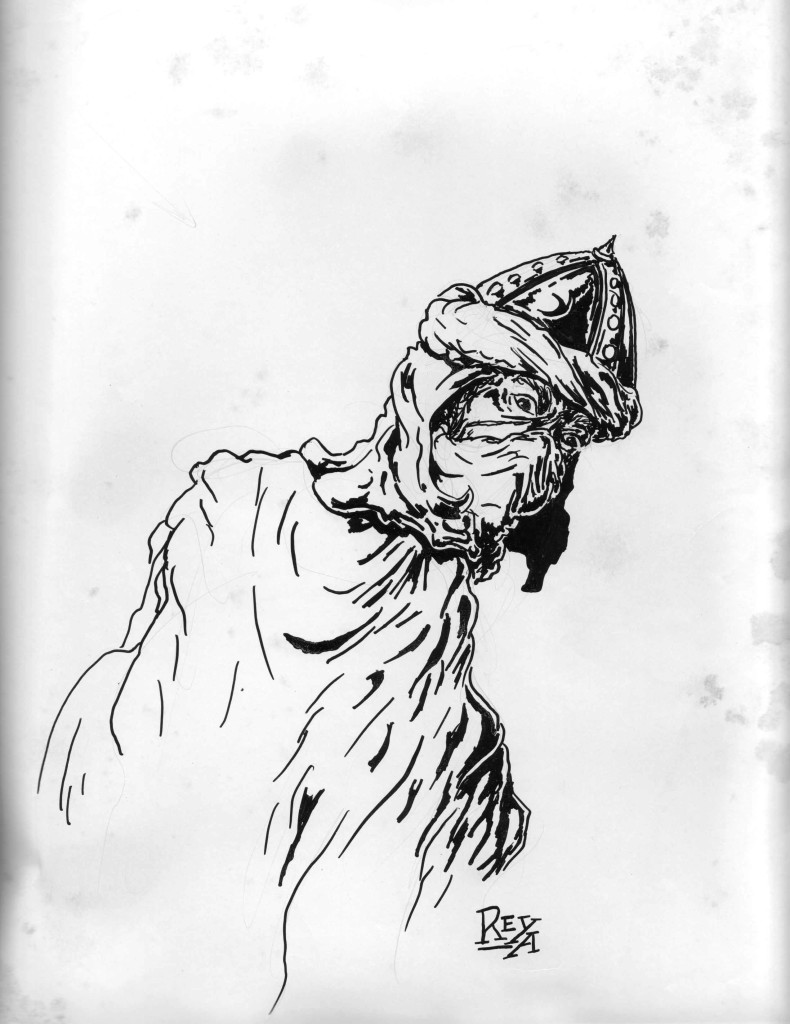 High School Pen & Ink Drawing